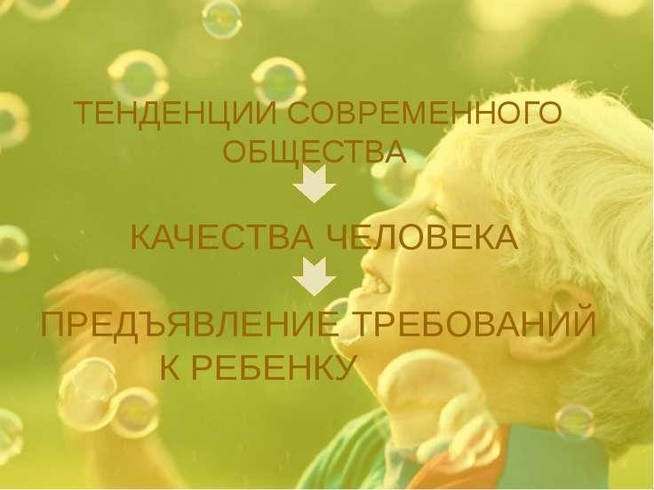 ТЕНДЕНЦИИ СОВРЕМЕННОГО ОБЩЕСТВА КАЧЕСТВА ЧЕЛОВЕКА ПРЕДЪЯВЛЕНИЕ ТРЕБОВАНИЙ К Р...
