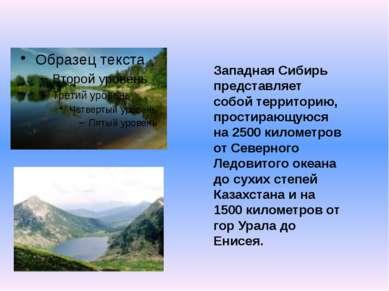 Западная Сибирь представляет собой территорию, простирающуюся на 2500 километ...