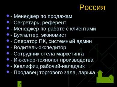 Россия - Менеджер по продажам - Секретарь, референт - Менеджер по работе с кл...