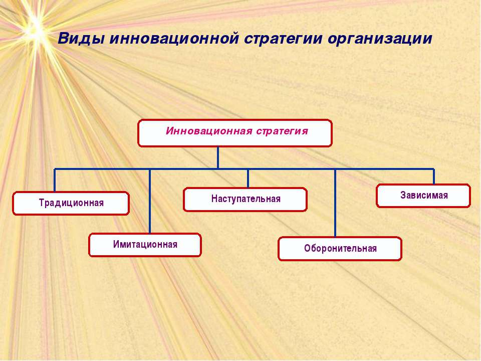 Виды инновационной стратегии организации