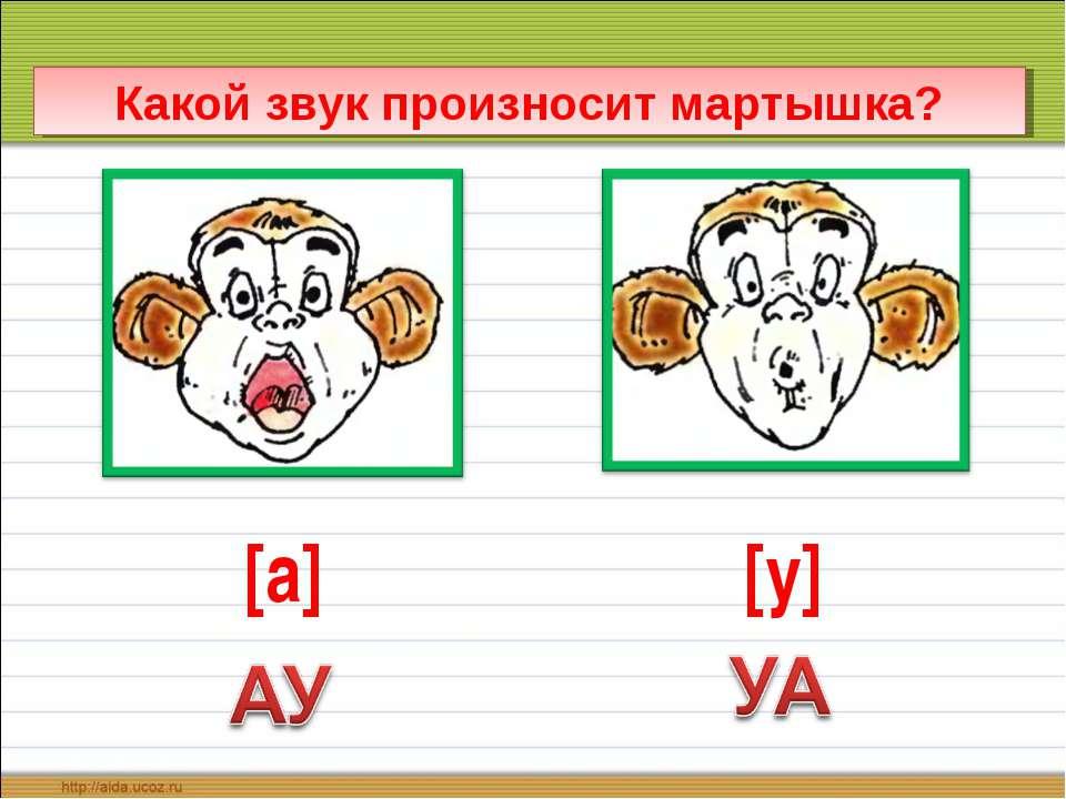 Какой звук произносит мартышка? [а] [у]
