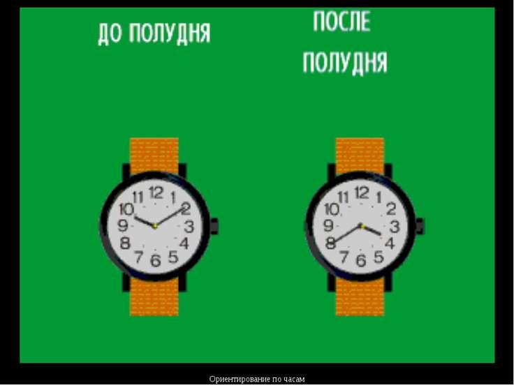 Ориентирование по часам