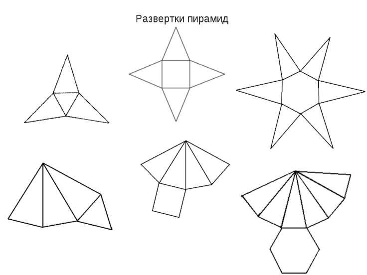 Развертки пирамид