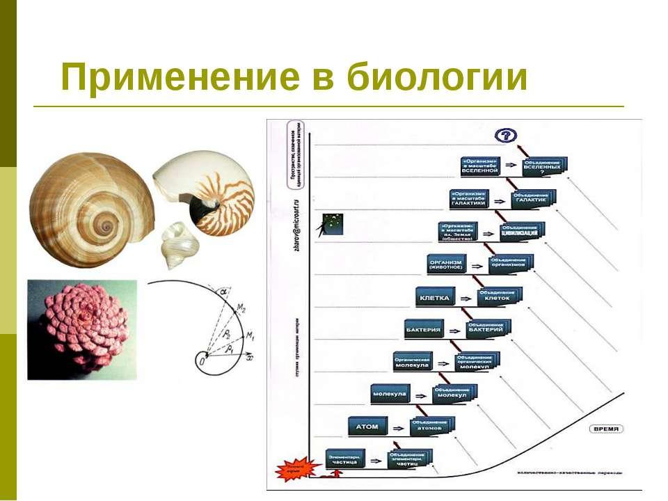 Применение в биологии