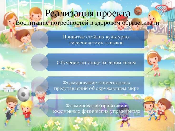 Реализация проекта Воспитание потребностей в здоровом образе жизни