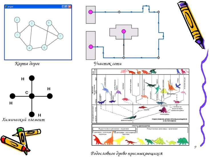 * Карта дорог Участок сети Химический элемент Родословное древо пресмыкающихся