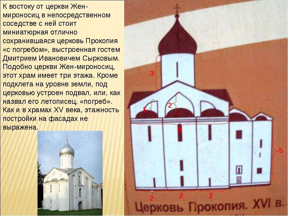 К востоку от церкви Жен-мироносиц в непосредственном соседстве с ней стоит ми...