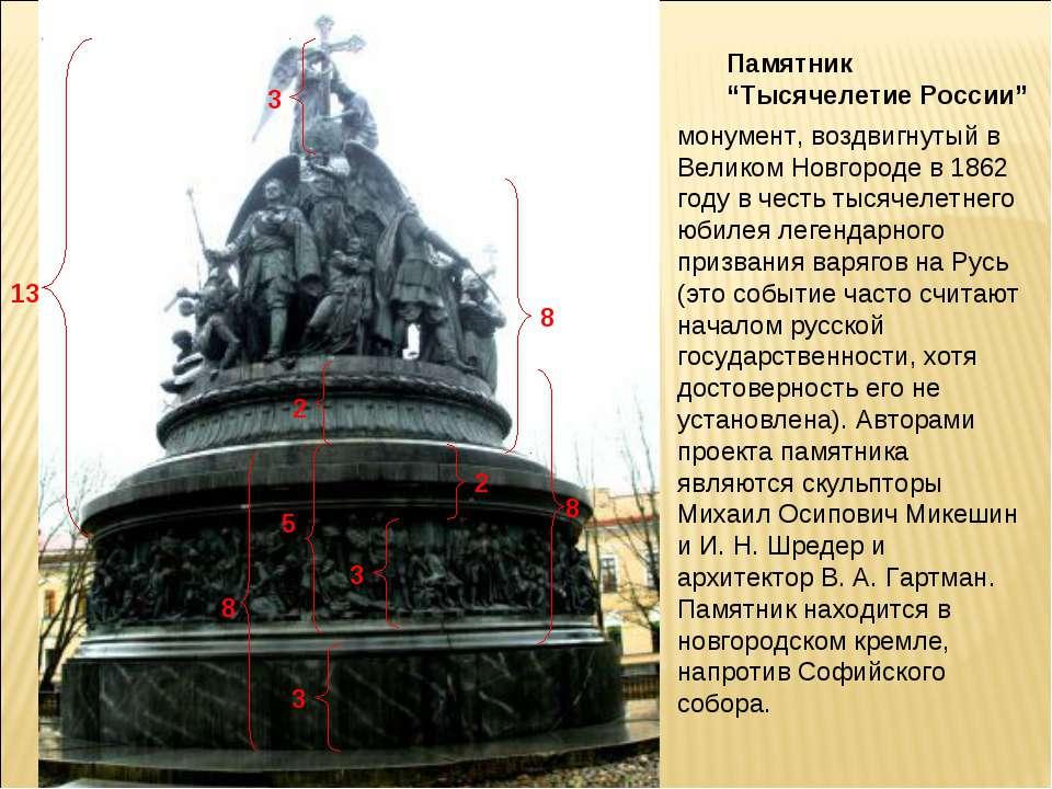 """Памятник """"Тысячелетие России"""" монумент, воздвигнутый в Великом Новгороде в 18..."""