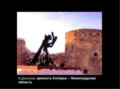 В.Дмитриев, крепость Копорье – Ленинградская область