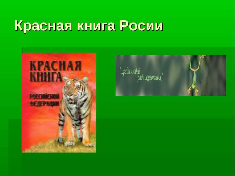 Красная книга Росии