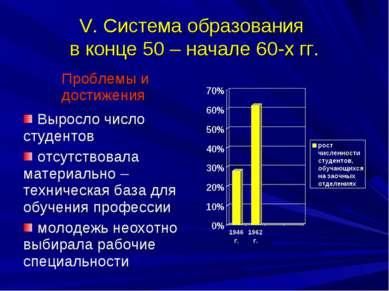 V. Система образования в конце 50 – начале 60-х гг.