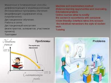 Машинные и безмашинные способы дифференциации и индивидуализации Интерактивны...