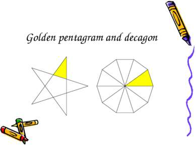 Golden pentagram and decagon