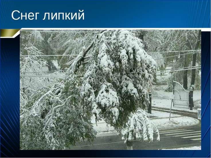 Снег липкий