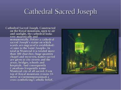 Cathedral Sacred Joseph Cathedral Sacred Joseph. Constructed on the Royal mou...