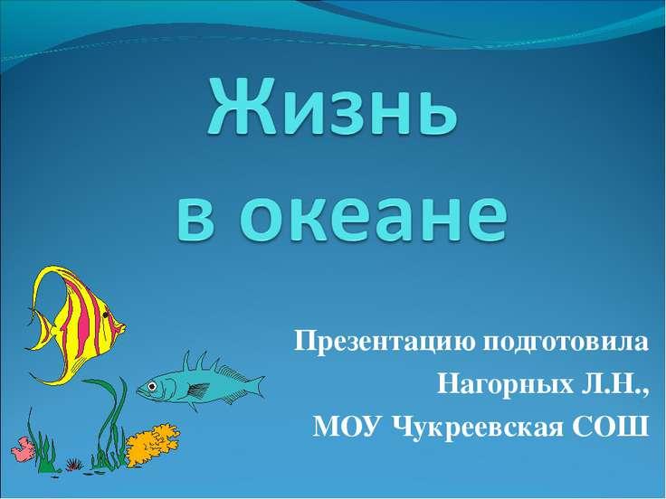 Презентацию подготовила Нагорных Л.Н., МОУ Чукреевская СОШ