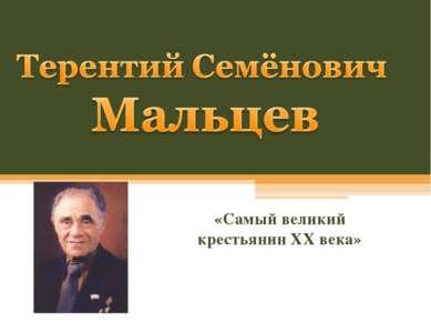 «Самый великий крестьянин XX века»