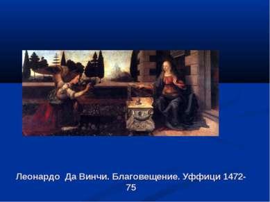 Леонардо Да Винчи. Благовещение. Уффици 1472-75