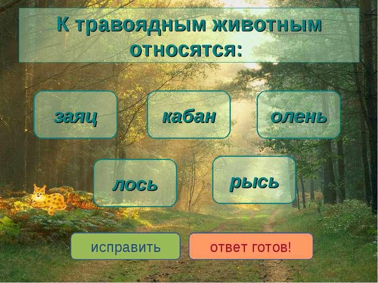 К травоядным животным относятся: лось заяц олень кабан рысь исправить ответ г...