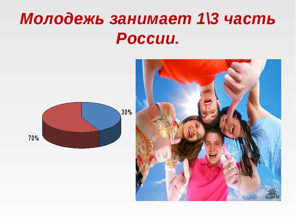 Молодежь занимает 1\3 часть России.