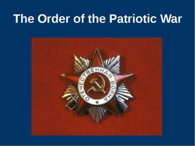 The Order of the Patriotic War