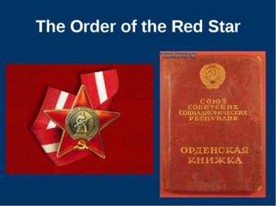The Order of the Red Star