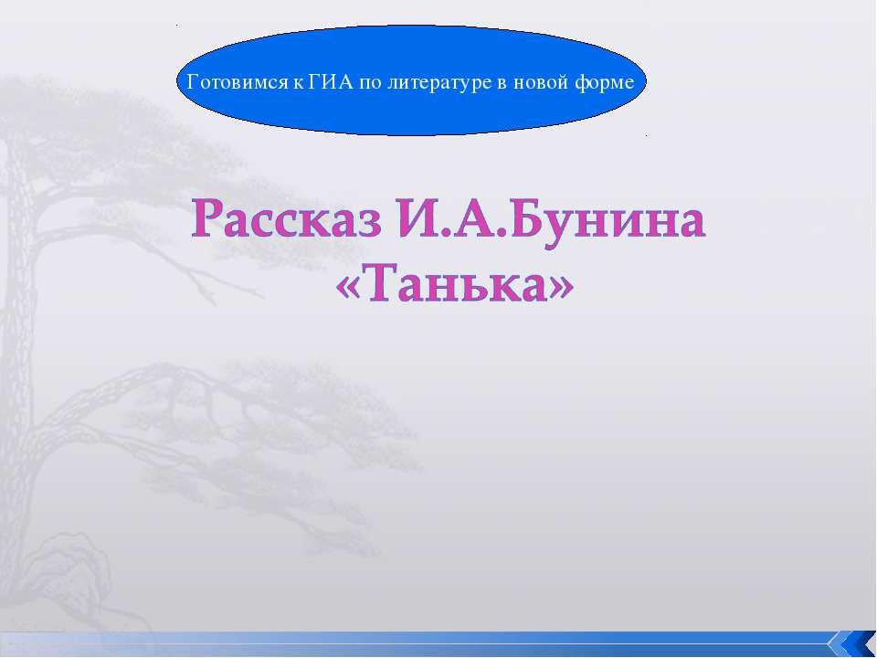 Готовимся к ГИА по литературе в новой форме