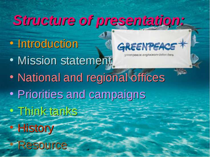 Structure of presentation: Introduction Mission statement National and region...