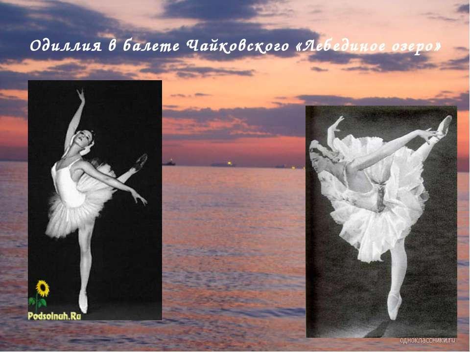 Одиллия в балете Чайковского «Лебединое озеро»