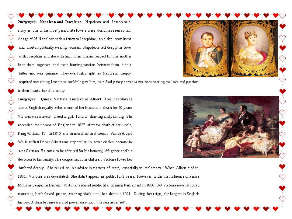 2ведущий. Napoleon and Josephine. Napoleon and Josephine's story is one of th...