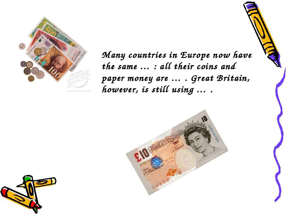 Many countries in Europe now have the same … : all their coins and paper mone...