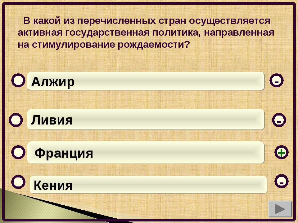 В какой из перечисленных стран осуществляется активная государственная полити...