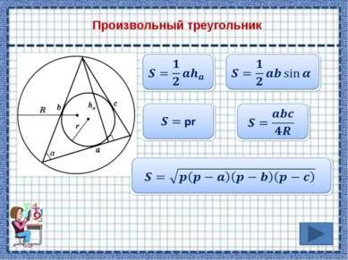 Основные теоретические сведения Площадь треугольника Площадь параллелограмма ...