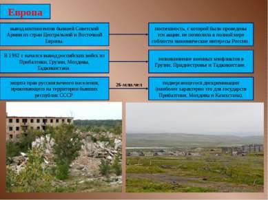 Европа вывод контингентов бывшей Советской Армии из стран Центральной и Восто...