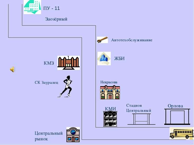 ПУ - 11 Центральный рынок КМЗ Орлова Стадион Центральный КМИ Некрасова СК Зау...