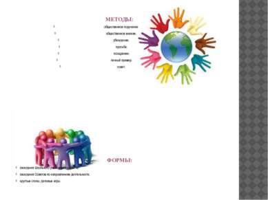 МЕТОДЫ: общественное поручение; общественное мнение; убеждение; просьба; поощ...