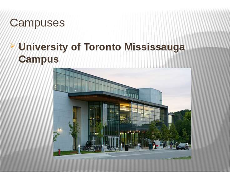 Campuses University of Toronto Mississauga Campus