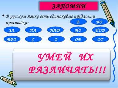 В русском языке есть одинаковые предлоги и приставки: