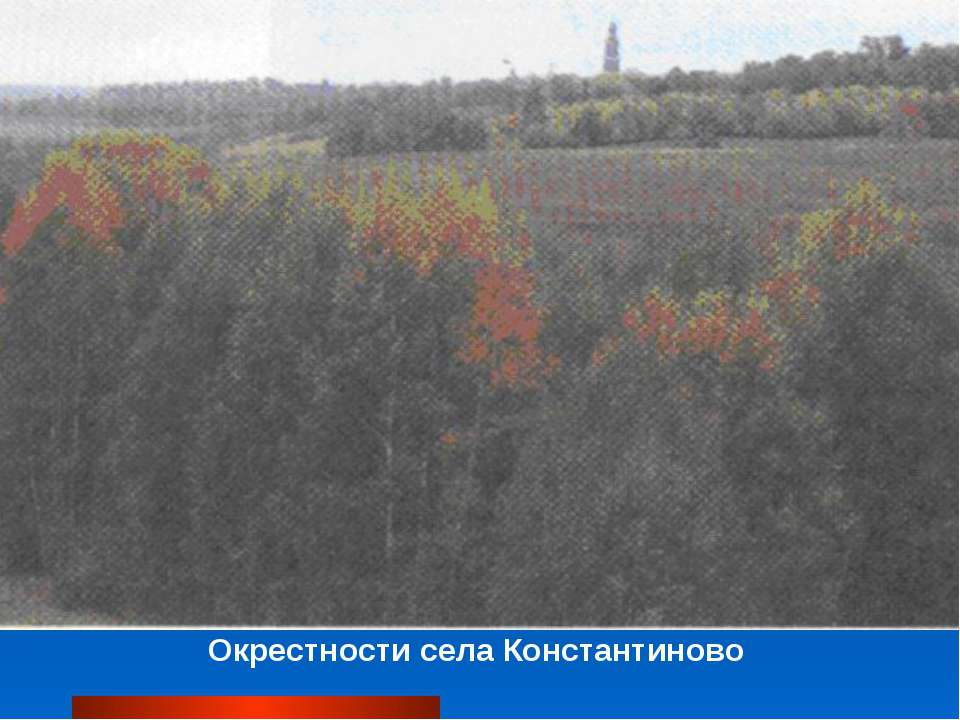 Окрестности села Константиново