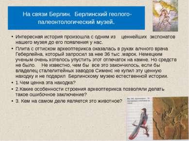 На связи Берлин. Берлинский геолого- палеонтологический музей. Интересная ист...