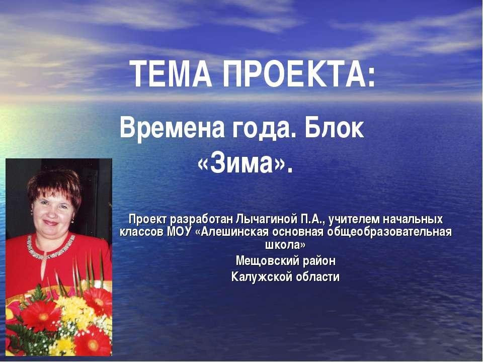 Времена года. Блок «Зима». Проект разработан Лычагиной П.А., учителем начальн...