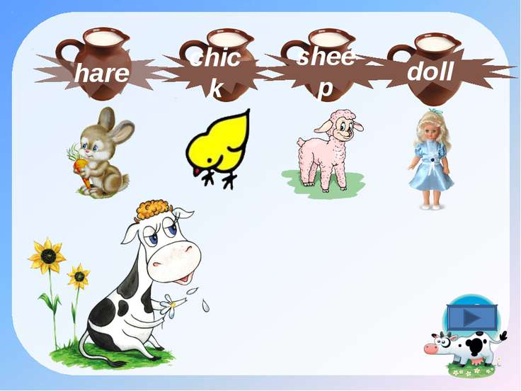hare doll chick sheep