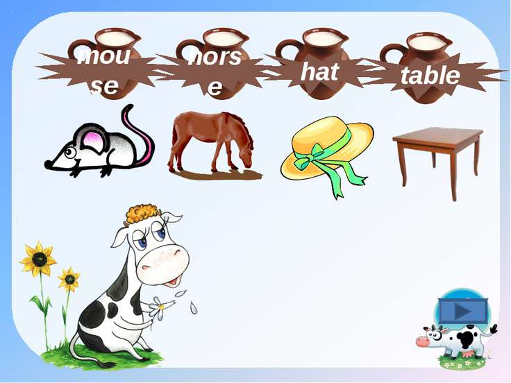 hat table horse mouse
