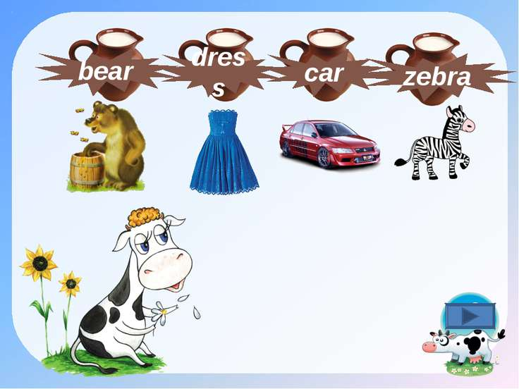 car zebra dress bear