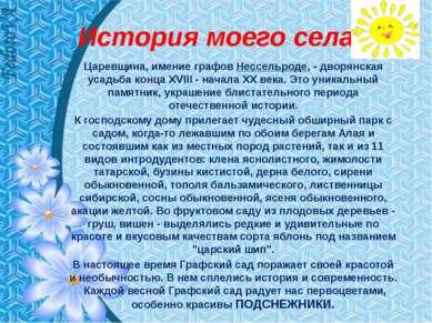 История моего села Царевщина, имение графов Нессельроде, - дворянская усадьба...