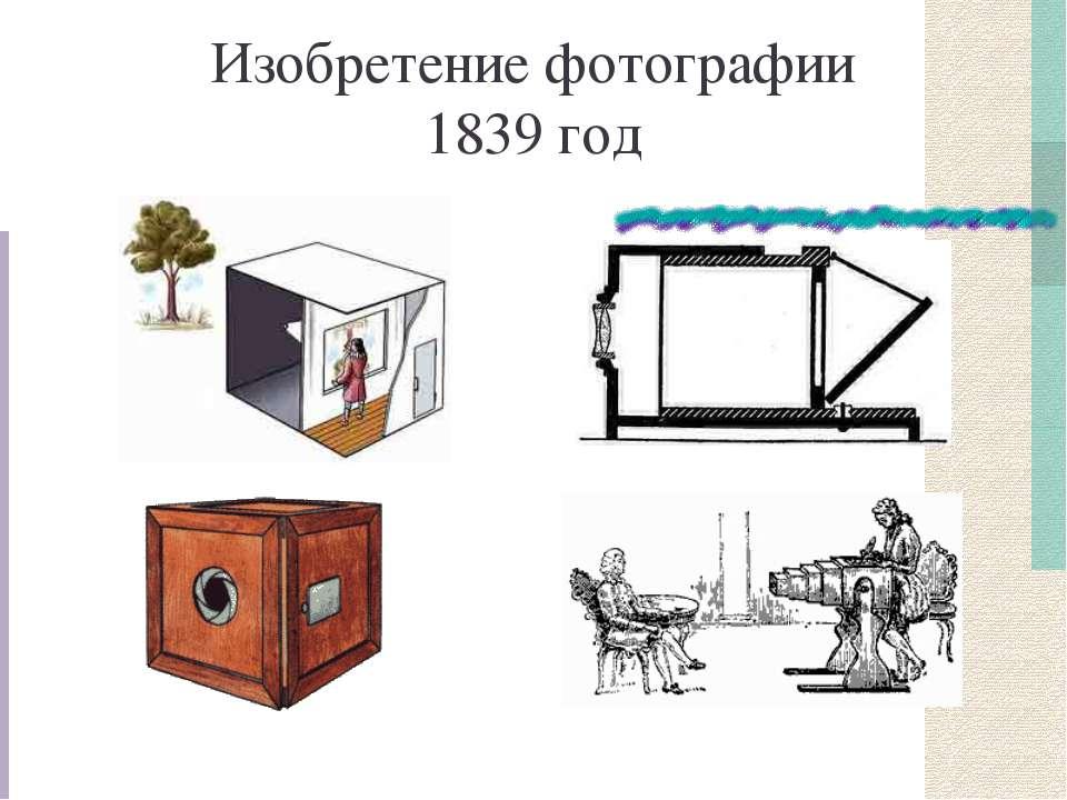 Изобретение фотографии 1839 год