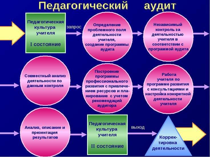 Определение проблемного поля деятельности учителя, создание программы аудита ...