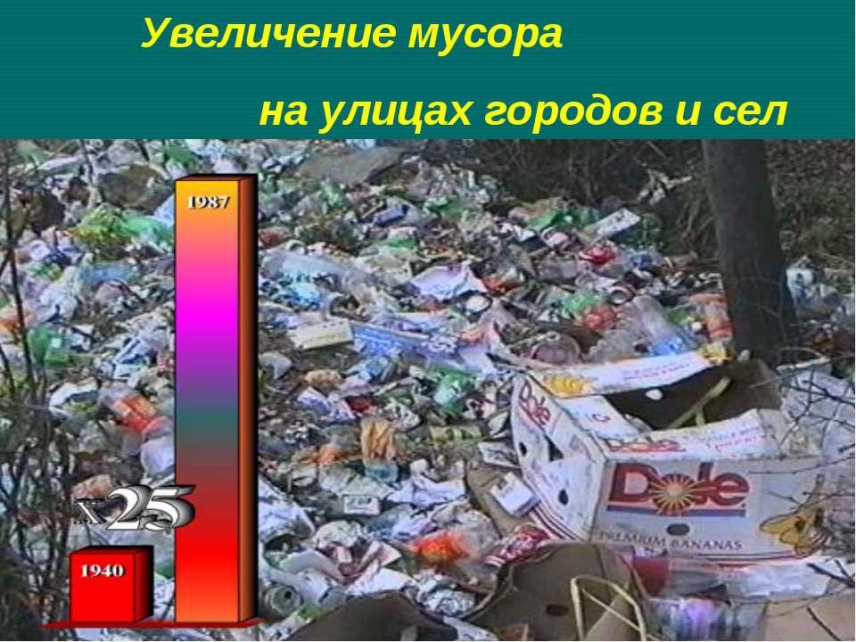 Увеличение мусора на улицах городов и сел