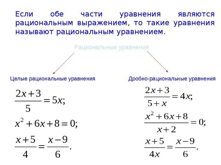 Если обе части уравнения являются рациональным выражением, то такие уравнения...