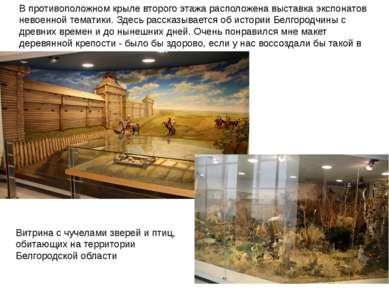 В противоположном крыле второго этажа расположена выставка экспонатов невоенн...